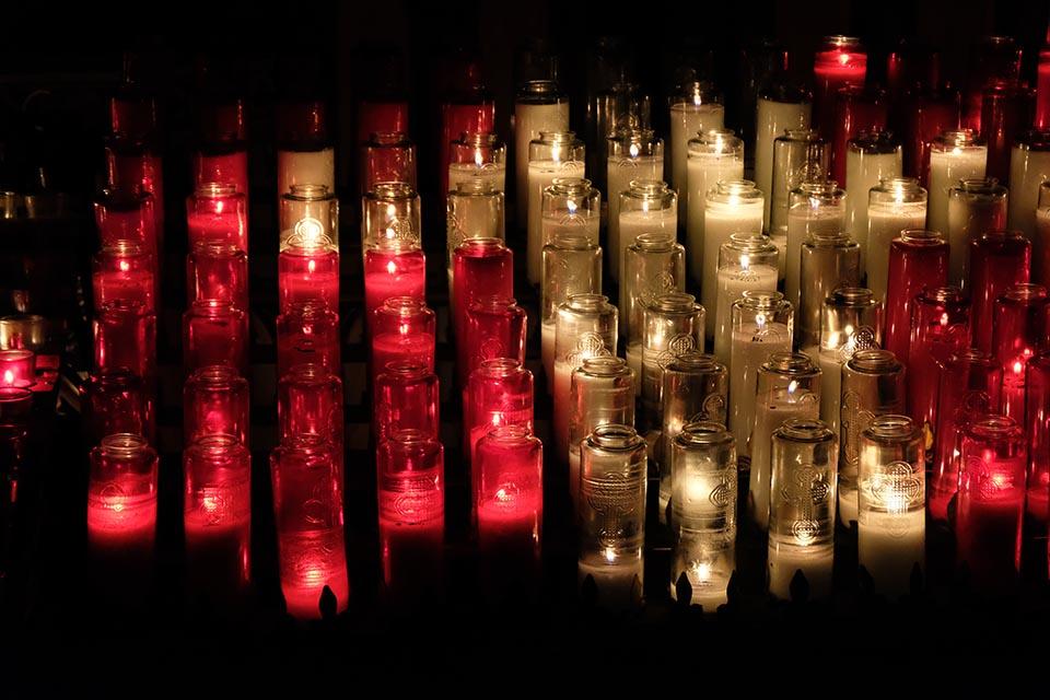 Aura in der Basilique Notre Dame Montreal Kerzen