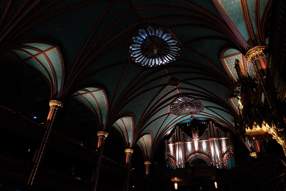 Aura in der Basilique Notre Dame Montreal Orgel